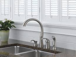 Delta Bellini Kitchen Faucet Single Handle Kitchen Faucet With Spray Soap Dispenser 11946