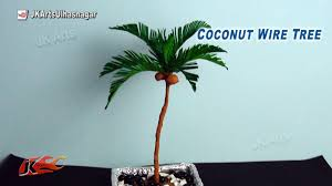 diy how to make coconut tree from crepe paper jk arts 800 youtube