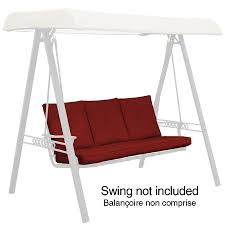 Courtyard Creations Patio Furniture Replacement Cushions by Garden Treasures North Haven Solid Red Swing Cushion Replacement