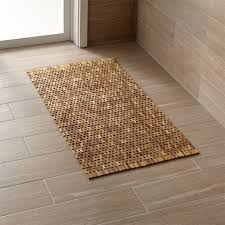 How To Make A Rug Out Of Fabric Bathroom Rugs And Bath Mats Crate And Barrel