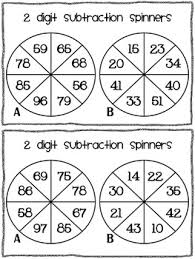 2 digit subtraction game without regrouping by susan jones tpt