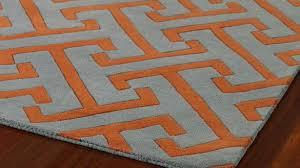 Orange Area Rug Remarkable Amazing Of Orange Area Rug Geometric Style Modern Grey