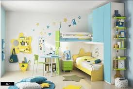 Yellow And Blue Decor Kids Bedroom Solution For A Minimal Spaced House