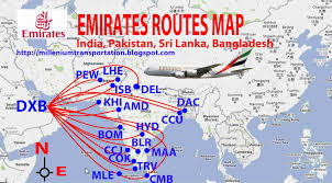 Delta Airlines Route Map by International Flights Emirates Routes Map