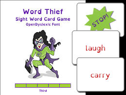 words cards word thief third level card read naturally inc
