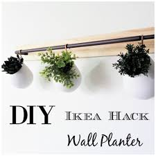 Wall Mounted Planters by Diy Ikea Hack Wall Planter Be My Guest With Denise