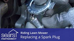 craftsman 25583 replacing a spark plug on a riding lawn mower youtube