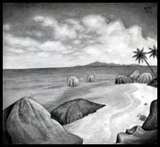 how to sketch a beach draw a realistic beach step by step