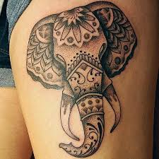 45 elephant tattoos for thigh