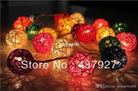 rattan ball fairy lights best 20 lights multi color rattan ball bedroom decor brand set