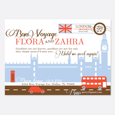 bon voyage invitation travel invitation london invitation