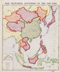 Printable Map Of Asia 1932 Map Featuring Countries Of The Far East Brilliant Maps