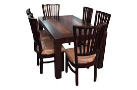 6 seater dining table and chairs maira ambel 6 seater dining table set walnut sanfurn