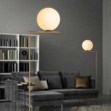 Home Decor Floor Lamps Creative Brief Gold Floor Lamps Glass Ball Stand Lamp For Living