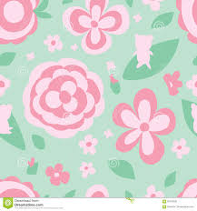 Color Green Flower Pastel Color Green Seamless Pattern Stock Vector Image