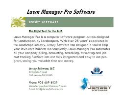 Pro Landscape Software by Lawn Manager Pro Landscape Billing Software Youtube