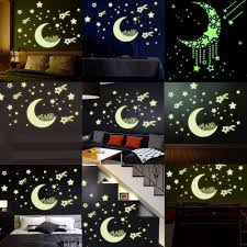 popular star wall decal buy cheap star wall decal lots from china romantic night luminous stars fluorescent 3d wall stickers children s bedroom stickers glow in the dark star