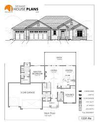 Three Car Garage House Plans 1331 Rb Spokane House Plans