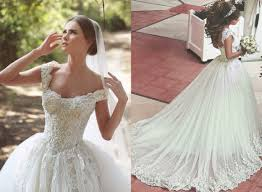 lace applique beaded ball gown wedding dresses off shoulder retro