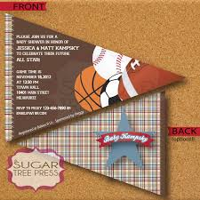 wording for sports themed baby shower invitations jpg