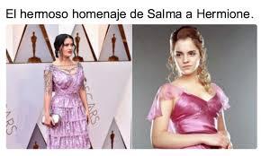 Salma Hayek Meme - los mejores memes que destrozaron el vestido de salma hayek daily