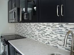 Glass Backsplashes For Kitchen Sample Bliss Iceland Marble And Glass Linear Mosaic Tiles For