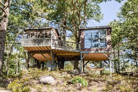 Tree House Home by High Concept Seguin Tree Dwellings Maine Magazine