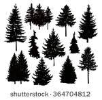 pine tree silhouette free vector 15357 free downloads