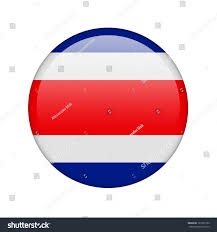 Costa Rico Flag Costa Rica Flag Form Glossy Icon Stock Illustration 121069192