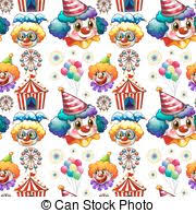 clowns juggling balls circus clowns seamless background seamless background with