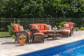 Real Wicker Patio Furniture - sawyer 6pc resin wicker patio furniture conversation set orange