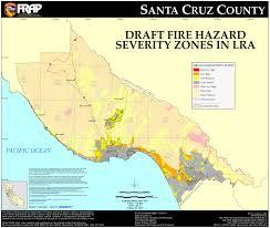 Northern California County Map Cal Fire Santa Cruz County Fhsz Map