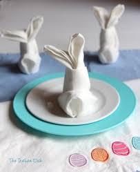 easter napkins the italian dish posts bunny fold napkin for easter