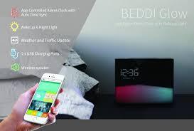 alarm clock that wakes you up during light sleep intelligent alarm clock with wake up light beddi glow witti store