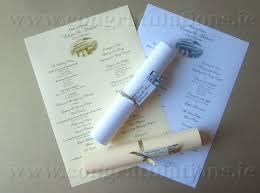Wedding Ceremony Pamphlets Ceremony Scrolls Buy Wedding Ceremony Scrolls In Ireland From