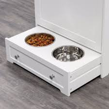Kitchen Food Cabinet by Pet Food Cabinet Feeder Storage Station Dog Cat Kitchen Ss Water Bowls