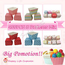 Mixed Patterns by 400pcs Mixed Patterns Square Baking Cups Square Muffin Paper Cups