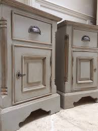 of solid pine painted grey bedside tables cabinets cupboards