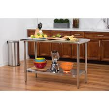 home depot stainless steel table ecostorage 48 in nsf stainless steel table tls 0201 the home depot