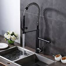 Oil Rubbed Bronze 22 Tall Gourmet Pull Down Kitchen Sink Faucet Ebay