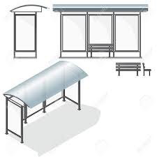 bus stop empty design template for branding vector illustration