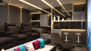 3d home theater 3d home theatre and bar cgtrader