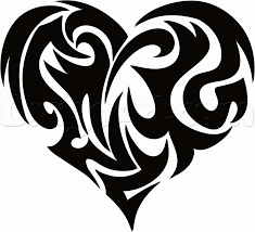 tribal heart tattoo drawings pictures to pin on pinterest tattooskid