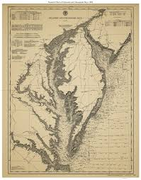 Chesapeake Bay Map Historical Nautical Charts Of The Chesapeake And Delaware Bays