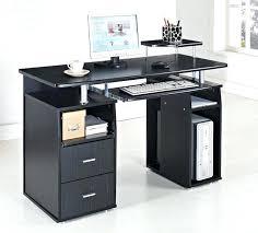 Black Glass Computer Desk Black Home Office Desk U2013 Adammayfield Co