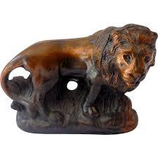 lion figurine vintage bronzed metal lion figurine from californiagirls on ruby