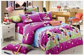 Mickey Mouse King Size Duvet Cover Purple Brushed Cotton Mickey And Minnie Mouse Bedding Sets Kids