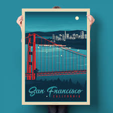travel posters images San francisco travel poster product olahoop travel posters jpg