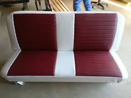 custom maroon and white leather bench seat 10th street auto u0026 trim