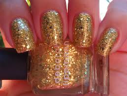 sparkly vernis deborah lippmann boom boom pow has real gold and